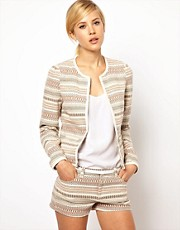 Mango Ikat Stripe Trophy Jacket