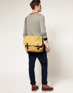 Image 1 ofASOS Canvas Satchel