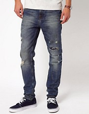 River Island Skinny Vinny Jeans with Rips