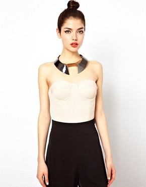 Image 1 ofAqua Langford Cupped Bustier Bodysuit