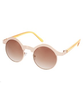 Image 1 ofASOS Half Frame Metal Keyhole Sunglasses