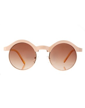 Image 2 ofASOS Half Frame Metal Keyhole Sunglasses