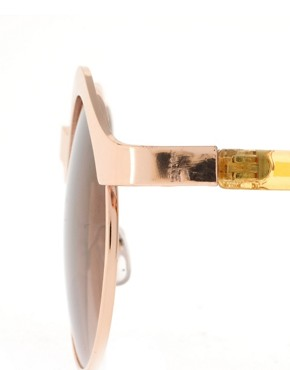 Image 4 ofASOS Half Frame Metal Keyhole Sunglasses