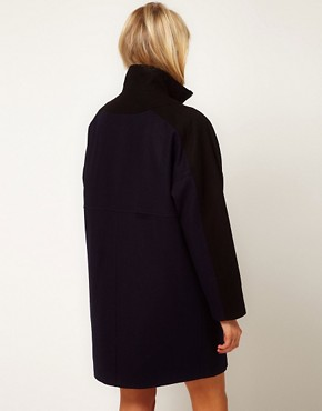 Image 2 ofASOS Blocked Zip Front Coat