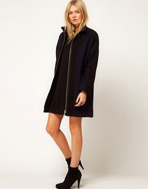 Image 4 ofASOS Blocked Zip Front Coat