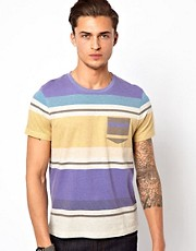 ASOS Stripe T-Shirt With Pocket