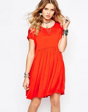 Gat Rimon Collie Smock Dress in Orange