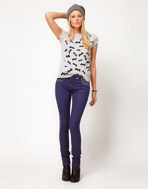 Image 4 ofASOS PETITE Exclusive Bat Tee