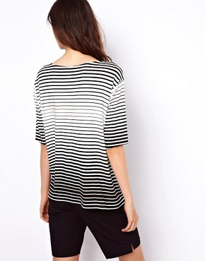 Image 2 ofASOS T- Shirt in Stripe with Pocket Detail