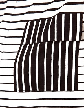 Image 3 ofASOS T- Shirt in Stripe with Pocket Detail