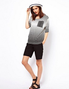 Image 4 ofASOS T- Shirt in Stripe with Pocket Detail