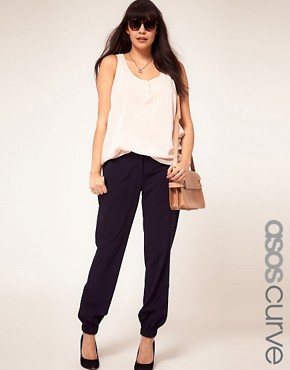 Image 1 ofASOS CURVE Trouser With Elastic Cuff