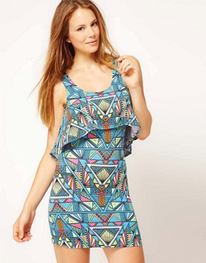 Image 1 ofMara Hoffman Inca Print Layered Jersey Beach Dress
