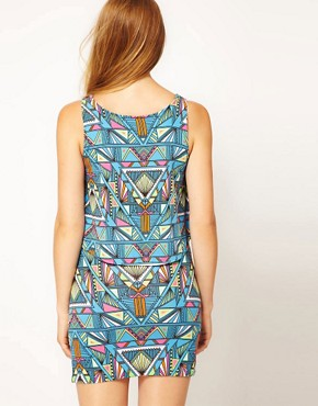 Image 2 ofMara Hoffman Inca Print Layered Jersey Beach Dress