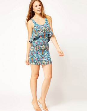 Image 4 ofMara Hoffman Inca Print Layered Jersey Beach Dress