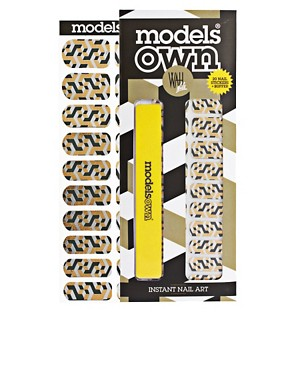 Image 1 ofModels Own WAH Nail Transfers - Metallic Cuboid