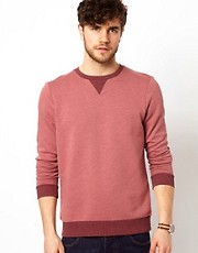 ASOS Sweatshirt With Contrast Ribs