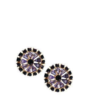 Image 1 ofASOS Stone Flower Earring