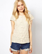 Sugarhill Boutique Lace Top with Bow Detail