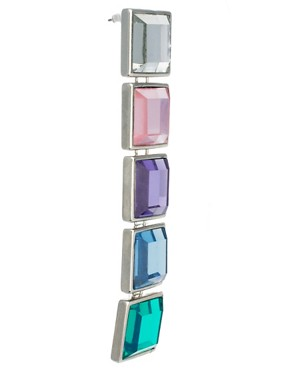Image 3 ofASOS Gem Rainbow Earrings