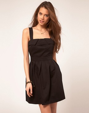 Image 2 ofASOS Skater Dress with Cut Out Back