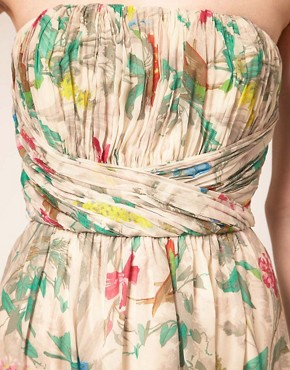 Image 3 ofTed Baker Maxi Dress In Paradise Brid Print