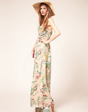 Image 4 ofTed Baker Maxi Dress In Paradise Brid Print
