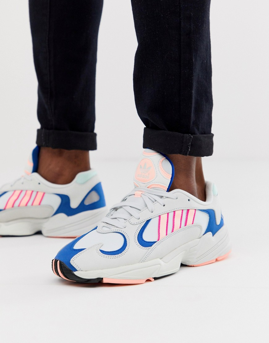 adidas Originals - yung-1 - Sneakers in wit - Wit