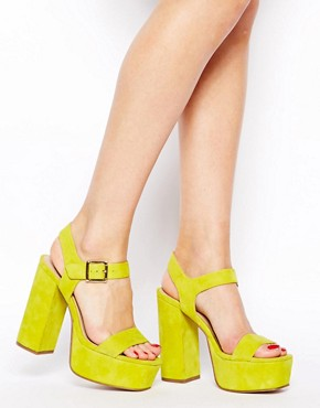 ASOS HEAD STRONG Suede Heeled Sandals