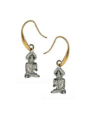 Pendientes con charm de Buda de Sam Ubhi