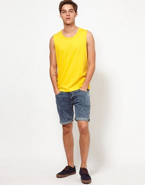 Image 4 ofASOS Sleeveless T-Shirt With Bound Scoop Neck