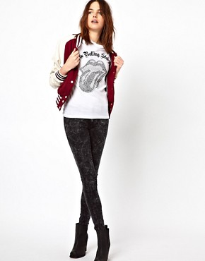 Image 4 ofAmplified Diamante Rolling Stones Tongue T-Shirt
