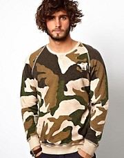Diesel Sweatshirt Crew Neck Camo Sicak