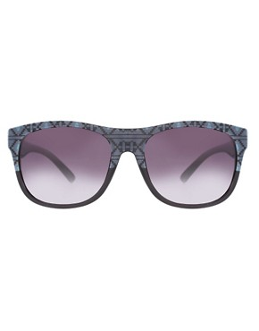 Image 2 ofASOS Aztec Print Sunglasses