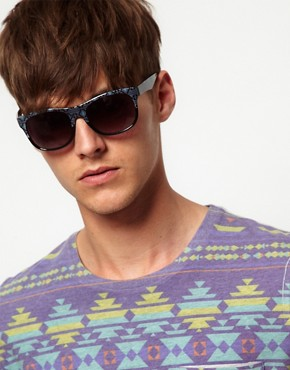 Image 3 ofASOS Aztec Print Sunglasses