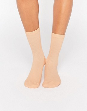 ASOS Plain Rib Ankle Socks