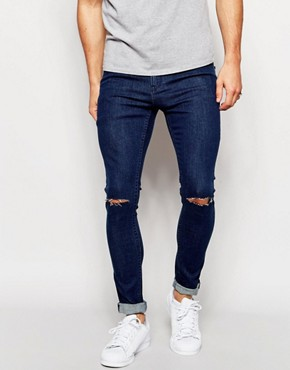 Only & Sons Vintage Wash Jeans with Rips in Skinny Fit