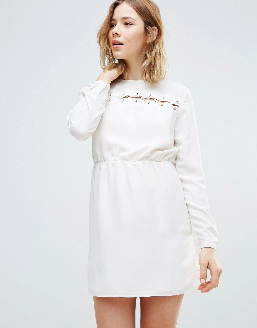 First & I Smock Dress - White