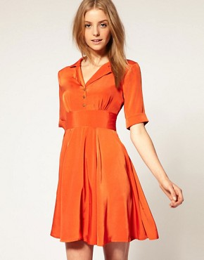 Image 1 ofVero Moda 50 s Swing Shirt Dress
