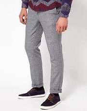 ASOS Skinny Chinos In Tweed