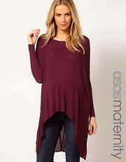 ASOS Maternity Top With Dipped Hem