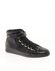 Ted Baker Apelo Glitter High Top Trainers
