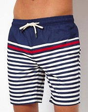 River Island Bretton Stripe Swim Shorts