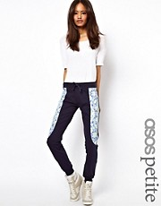 Pantaln de chndal con panel con estampado floral exclusivo de ASOS Petite