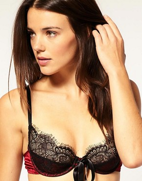 Gilda &amp; Pearl How To Marry A Millionaire Classic Bow Silk Bra