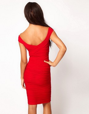 Image 2 ofASOS Midi Dress with Off Shoulder