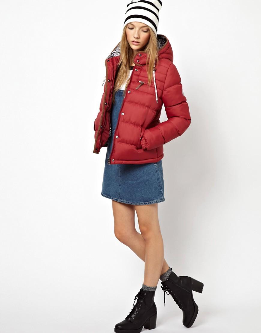 Image 4 ofBellfield Padded Jacket With Fairisle Hood