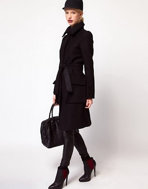 Image 4 ofASOS Oversized Pocket Belted Coat
