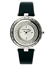 BCBG Ladies Slim Leather Strap Watch