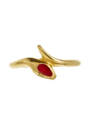 Image 2 ofSusan Caplan Exclusive For ASOS Vintage 80s Snake Ring